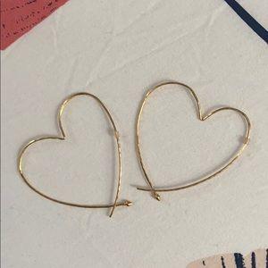 Stella dot heart earrings